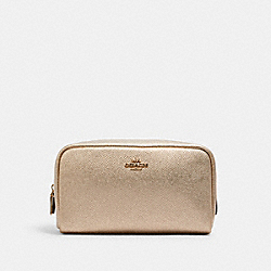 SMALL BOXY COSMETIC CASE - IM/METALLIC PALE GOLD - COACH C1409