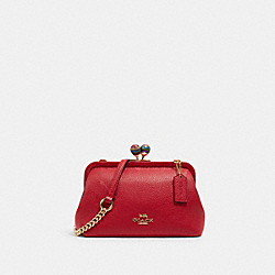 NORA KISSLOCK CROSSBODY - IM/CARNATION - COACH C1451