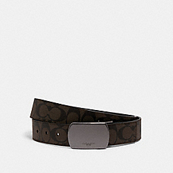 BOXED SIGNATURE AND HARNESS BUCKLE CUT-TO-SIZE REVERSIBLE BELT, 38MM - QB/MAHOGANY/BLACK - COACH C1512