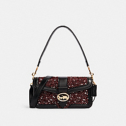 GEORGIE SHOULDER BAG - IM/BLACK MULTI - COACH C1525