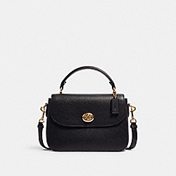 MARLIE TOP HANDLE SATCHEL - IM/BLACK - COACH C1557