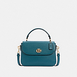 MARLIE TOP HANDLE SATCHEL - IM/TEAL INK - COACH C1557