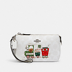 NOLITA 19 IN SIGNATURE CANVAS WITH TRAIN - SV/CHALK/GLACIER WHITE MULTI - COACH C1584