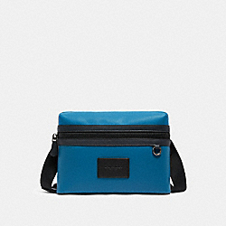 SMALL CARRIER CROSSBODY IN COLORBLOCK - QB/OCEAN BLUE MULTI - COACH C1606