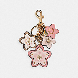 WILDFLOWER CLUSTER BAG CHARM - IM/PALE PINK MULTI - COACH C1687