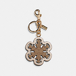 SPINNING SNOWFLAKE BAG CHARM IN SIGNATURE CANVAS - IM/BROWN/METALLIC PALE GOLD - COACH C1754