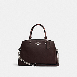 LILLE CARRYALL IN SIGNATURE CANVAS - SV/OXBLOOD 1 - COACH C1784