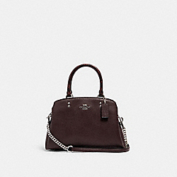 MINI LILLIE CARRYALL - SV/OXBLOOD 1 - COACH C1785