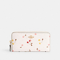 ACCORDION ZIP WALLET WITH PAINTED CHERRY PRINT - IM/CHALK MULTI - COACH C1813
