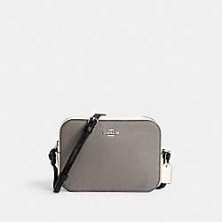 MINI CAMERA BAG IN COLORBLOCK - SV/HEATHER GREY MULTI - COACH C1832