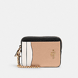 ZIP CARD CASE IN COLORBLOCK - IM/CHALK MULTI - COACH C1886
