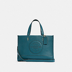 DEMPSEY CARRYALL WITH PATCH - IM/TEAL INK - COACH C2004
