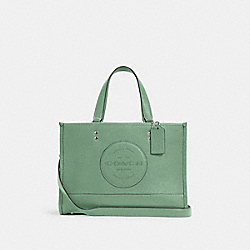 DEMPSEY CARRYALL WITH PATCH - SV/WASHED GREEN - COACH C2004