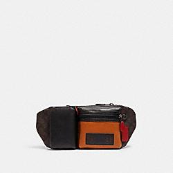 RIDER BELT BAG IN SIGNATURE CANVAS - QB/MHGNY/VNTG EMBR MULTI - COACH C2060