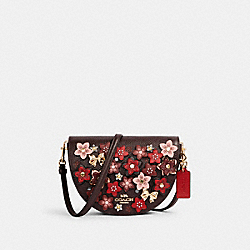 ELLEN CROSSBODY WITH DAISY APPLIQUE - IM/OXBLOOD/1941 RED MULTI - COACH C2176