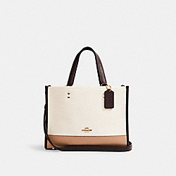 DEMPSEY CARRYALL IN COLORBLOCK SIGNATURE CANVAS - IM/LIGHT KHAKI MULTI - COACH C2182