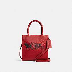 LUNAR NEW YEAR MINI CALLY CROSSBODY WITH OX AND CARRIAGE - IM/1941 RED MULTI - COACH C2184