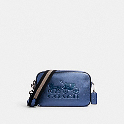 JES CROSSBODY WITH HORSE AND CARRIAGE - SV/METALLIC NAVY - COACH C2245
