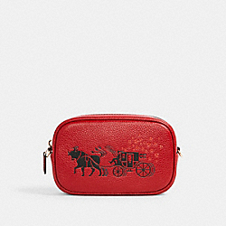 LUNAR NEW YEAR CONVERTIBLE BELT BAG WITH OX AND CARRIAGE - IM/1941 RED MULTI - COACH C2256