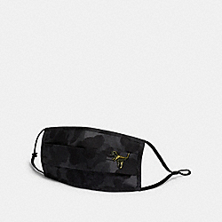 REXY FACE MASK WITH WILD BEAST PRINT - BLACK - COACH C2396