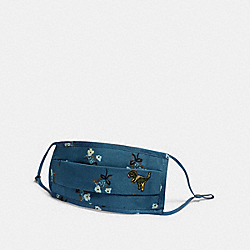 REXY FACE MASK WITH FLORAL PRINT - BLUE - COACH C2399