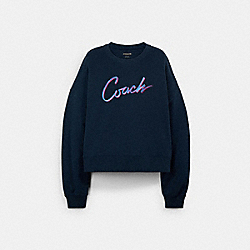 COACH AIRBRUSH CREWNECK - BRIGHT NAVY - COACH C2520