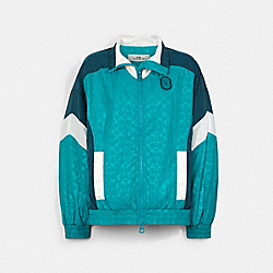 COLORBLOCK SIGNATURE TRACK JACKET - BLUEGRASS MULTI - COACH C2524