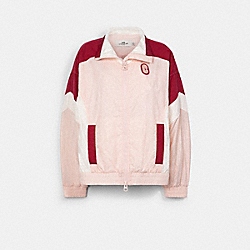 COLORBLOCK SIGNATURE TRACK JACKET - CRYSTAL PINK MULTI - COACH C2524