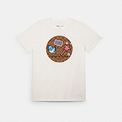 DISNEY X COACH SIGNATURE PRINCESS PATCHES T-SHIRT - WHITE - COACH C2527