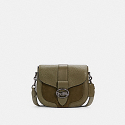 GEORGIE SADDLE BAG - QB/KELP - COACH C2805