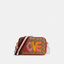 JES CROSSBODY IN SIGNATURE CANVAS WITH LOVE PRINT - IM/KHAKI CHALK MULTI - COACH C2808