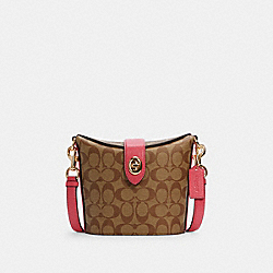 ADDIE CROSSBODY IN SIGNATURE CANVAS - IM/KHAKI/FUCHSIA - COACH C2817