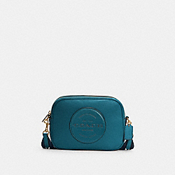 DEMPSEY CAMERA BAG WITH PATCH - IM/TEAL INK - COACH C2828