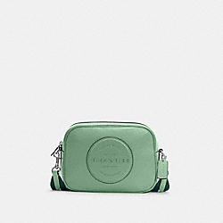 DEMPSEY CAMERA BAG WITH PATCH - SV/WASHED GREEN - COACH C2828