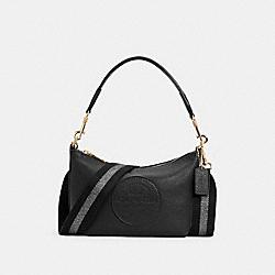 DEMPSEY SHOULDER BAG WITH PATCH - IM/BLACK - COACH C2829