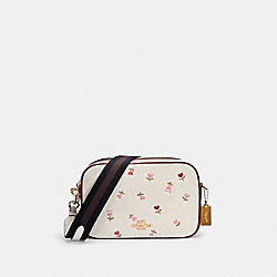 JES CROSSBODY WITH HEART FLORAL PRINT - IM/CHALK MULTI - COACH C2835