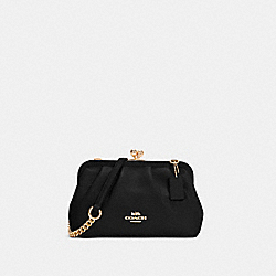 NORA KISSLOCK CROSSBODY - IM/BLACK - COACH C2875