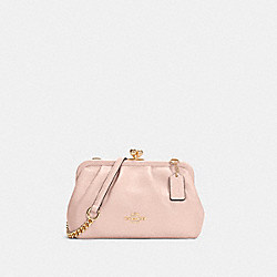 NORA KISSLOCK CROSSBODY - IM/PALE PINK - COACH C2875