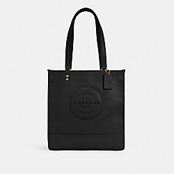 DEMPSEY TOTE WITH PATCH - IM/BLACK - COACH C3078
