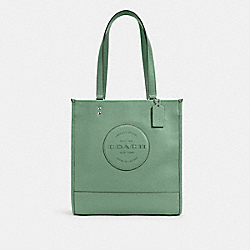 DEMPSEY TOTE WITH PATCH - SV/WASHED GREEN - COACH C3078
