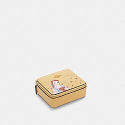 DISNEY X COACH LARGE JEWELRY BOX WITH BELLE - IM/VANILLA CREAM MULTI - COACH C3139