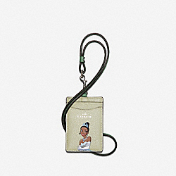 DISNEY X COACH ID LANYARD WITH TIANA - SV/PALE GREEN MULTI - COACH C3140