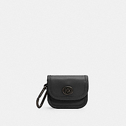 HERITAGE TURNLOCK BAG CHARM - QB/BLACK - COACH C3163