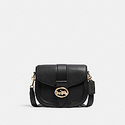 GEORGIE SADDLE BAG - IM/BLACK - COACH C3241
