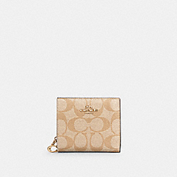 SNAP WALLET IN SIGNATURE CANVAS - IM/LIGHT KHAKI/BUBBLEGUM - COACH C3309