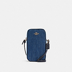 NORTH/SOUTH CROSSBODY - IM/DENIM MULTI - COACH C3346