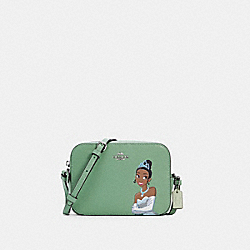 DISNEY X COACH MINI CAMERA BAG WITH TIANA - SV/WASHED GREEN MULTI - COACH C3405