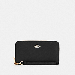 LONG ZIP AROUND WALLET - IM/BLACK - COACH C3441