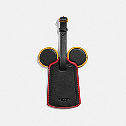 DISNEY MICKEY MOUSE X KEITH HARING LUGGAGE TAG - B4/BLACK - COACH C3545