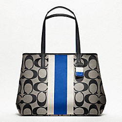 HAMPTONS WEEKEND SIGNATURE STRIPE LARGE TOTE